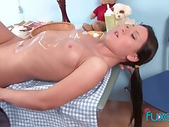 whipcream and cum of teen girl