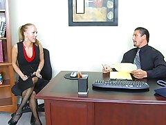 Premium sex for lean secretary at work