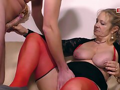 German old granny mother with saggy tits