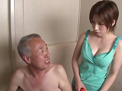 Asian amateur tart -old together with young mad sex clip
