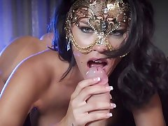 Masked milf naughty porn fantasy with younger man