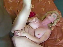 Fat Tits Granny Black Cock Cumshot On Boobs After Bj