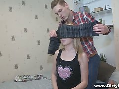 Peachy for everyone natural GF called Lina Napoli rides dick greedily before her cuckold