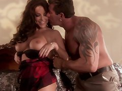 Bombshell ache haired MILF Victoria Valentino rides like a nympho