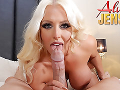 Large-Breasted blond porn luminary Alura Jenson gets banged in POV PORN
