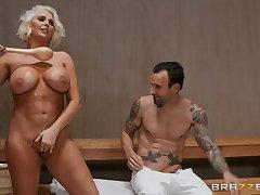 Kristina Shannon eats friend's fat penis like vanilla ice cream involving the spa