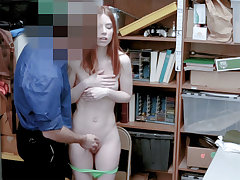 Interesting redhead mom humped by a perverted LP officer