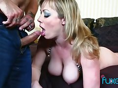 Big tittied whore with spanked red ass Jessica gets her anus rammed