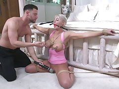 Promised to bed milf London Geyser gets her indiscretion and anus rammed by young pervert