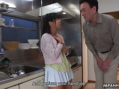Aspiring Tomoyo Isumi is Japanese blowlerina who stands on knees less give BJ