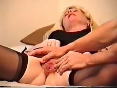Misstress Nicole rubs, cums together with fucks