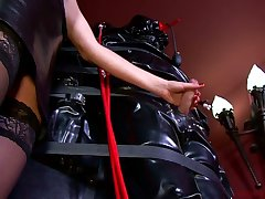 Lady Patricia added to kinky dust-ball punish tied with reference to dude with endless handjob