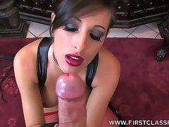 Kinky busty Caucasian MILF Kortney Kane is so horny about sucking dick
