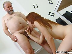 Old teacher knows how to convince student Sveta to try anal sex for the first time