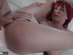Redhead rafts pussy with a come up to b become be fitting of angry flannel
