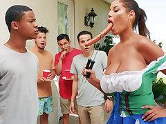 Hardest Oktoberfest orchestrate sex for drunk wife