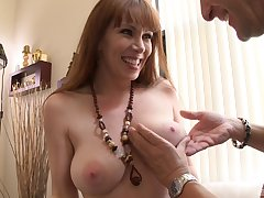 Mature lady RayVeness strips and teases before having amazing sexual relations