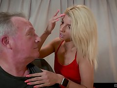 Older tramp got lucky with an increment of banged attractive blonde Missy Luv