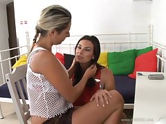 Lovely hot arse porn hotties Daria Glower and Anita Queen in a nasty lesbian scene