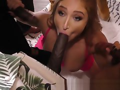 Whore takes fat black cocks