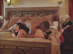 A worthy black lover gives lively August Ames what she needs