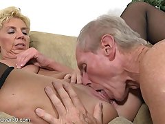 Patriarch Couple Humping - GILF about an increment of her hubby not far from homemade porn blear about cumshot