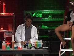 MILF gets the dick in the lab and goes sprightly mode on it