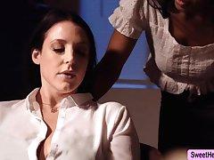 Dominate Inventor Angela White licks Jenna Foxx to relax a bit