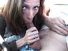 Exhibitionist reality blowjob in porn flicks