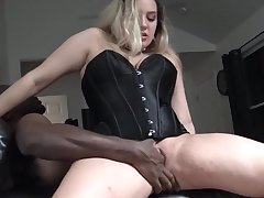 Bosomy amateur MILF Lilly sharing a huge black dick with Heather