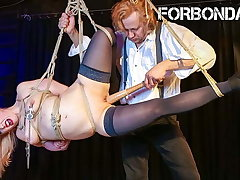 FORBONDAGE - BDSM Pussy Fuck Concerning Baseball Nutter For Mary O.