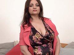 Huge nipples on big titted older Susan