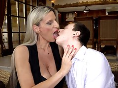 Cougar stepmom Conchita makes virgin stepson a man