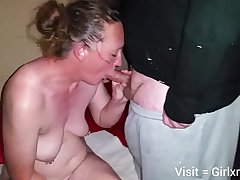 Mature white wife up hubby and black bull