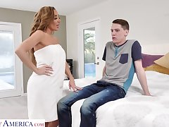 Drop dead gorgeous mommy Richelle Ryan fucks son's best join up