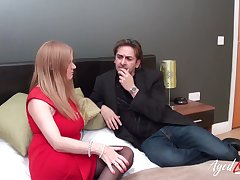 Handy boy got chance to make application his mast into mature lady with pretentiously boobs coupled with he execute not dither