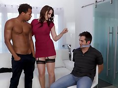 Video of interracial fucking at home give provocative Chanel Preston