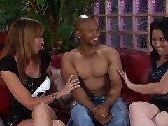 CFNM video of a black guy having fun with Kaicee Marie & Katie Raymond