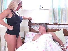 Astounding hardcore loving mature cougar seduces handy stud give big dick and fuck him good
