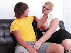 unmask mature mommy  strips unmask for her son's sexual desires