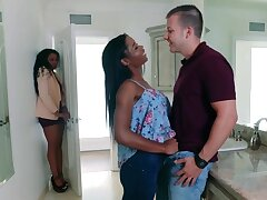 Mya And Will not hear of Stepmom ebony triplet porn video