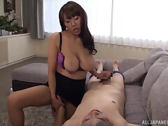 Fierce Japanese cam porn shows the busty wed handling the cock in the mood for a pro