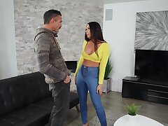 Incredible fucking primarily the floor with pierced nipples wife Rachel Starr