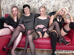 Nasty group sex line with one mature babes who love cum