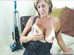 POV video of big-busted wife Bliss Rose on her knees giving a blowjob