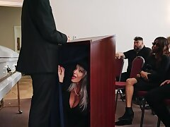 Dirty granny Sally D'angelo enjoys having carnal knowledge with a younger man