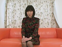 Asian mature grabs the dick for some ill-tempered fun