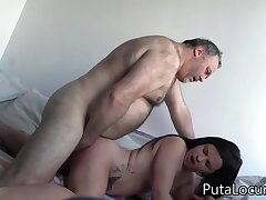 Heavy Elderly Fart Fucks Hispanic Teen Girl
